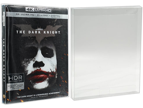 Malko Blu-ray 4k UHD Slipcover and PS3 Games Protector Case - Clear Plastic Prot
