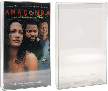 VHS Movie Box Protector - Plastic Protective Sleeve