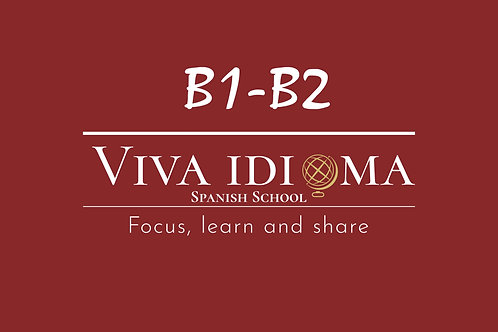 Spanish group course B1-B2 (online)