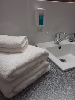 Close up of bathroom sink in ensuite