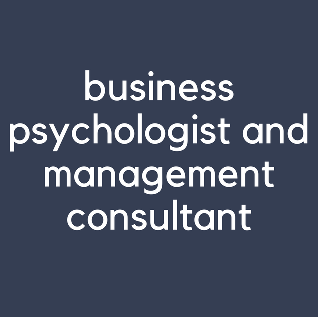 business psychologist and management con