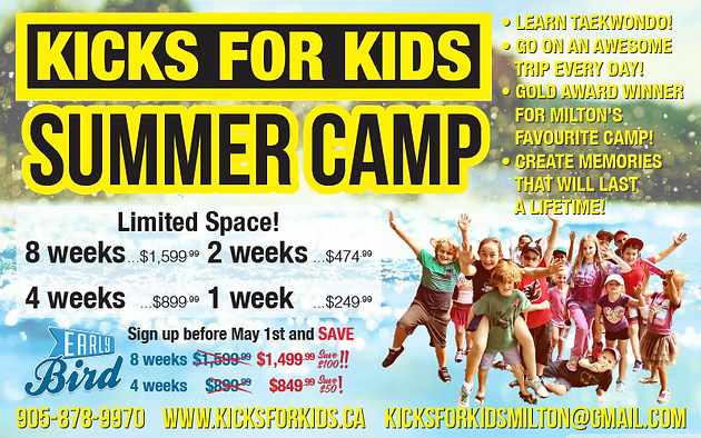 Summer Camp Is Coming Quick! | Kicks For Kids | Taekwondo Milton | Ontario  | After Schools