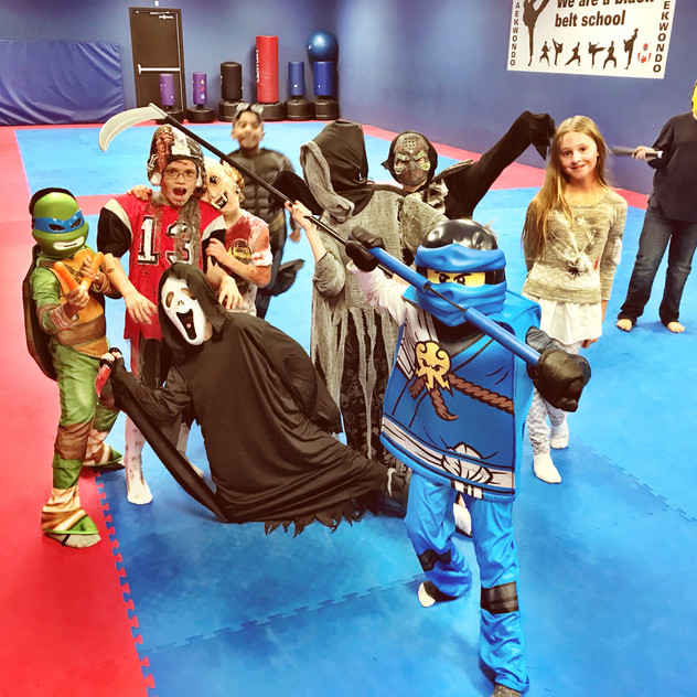 Some of our After School students show off their costumes.