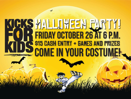 Kicks For Kids' Annual Halloween Party!