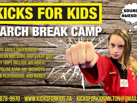 March Break Camp is next week!