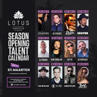 Season Open Talent Calendar