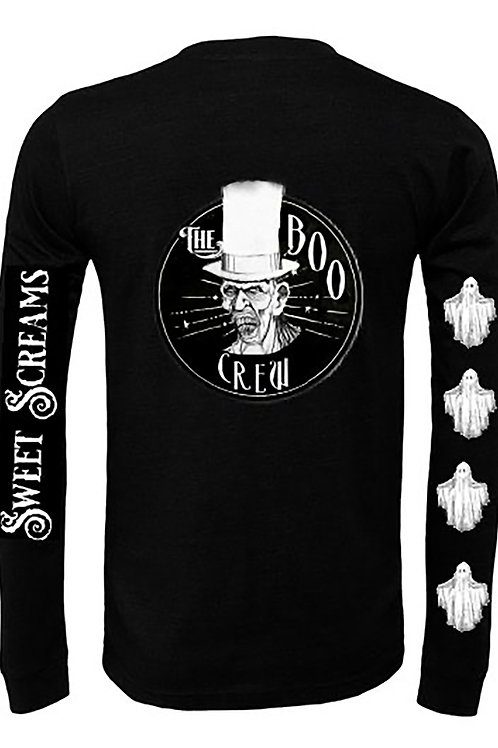 Boo Crew Long Sleeve Shirt (Sweet Screams)