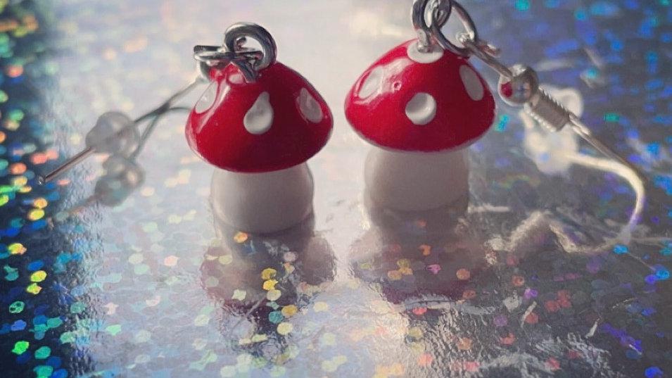 Toadstool Drop Earrings