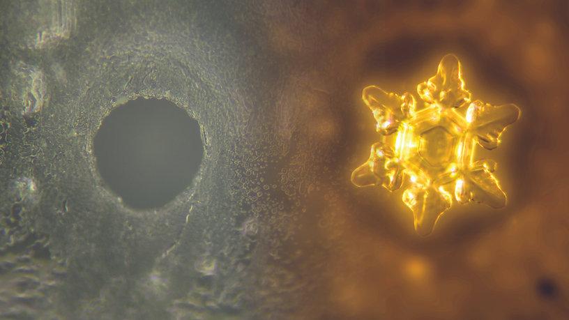 Wasserkristalle Vorher Nachher  Watercrystal Fotografie Photography
