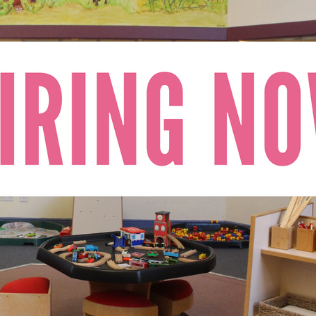 We are hiring - come join our unique nursery