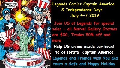 Legends Comics Captain America & Independent Days 2019