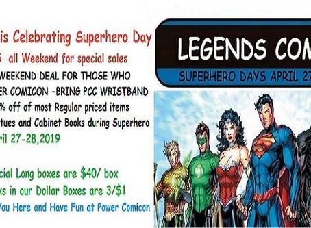 Legends Comics is Celebrating Superheroes Day