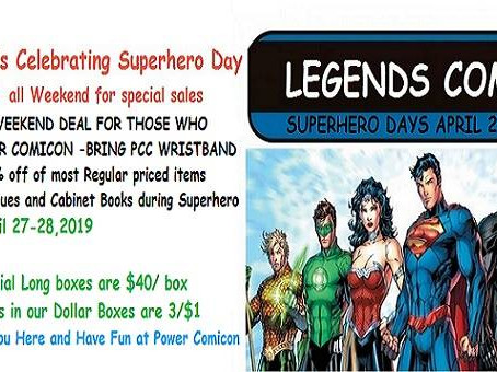 Legends Comics is Celebrating Superheroes Day