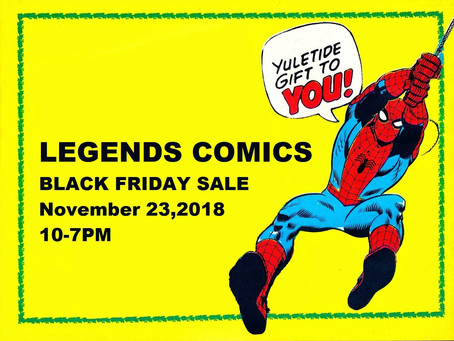 Legends Comics Black Friday Sale