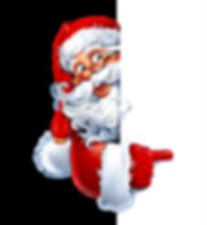 Santa Claus pointing finger_transparent.