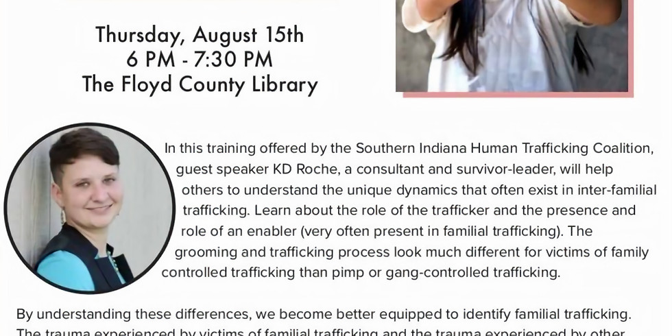 Human Trafficking Training Event- Family Controlled Trafficking
