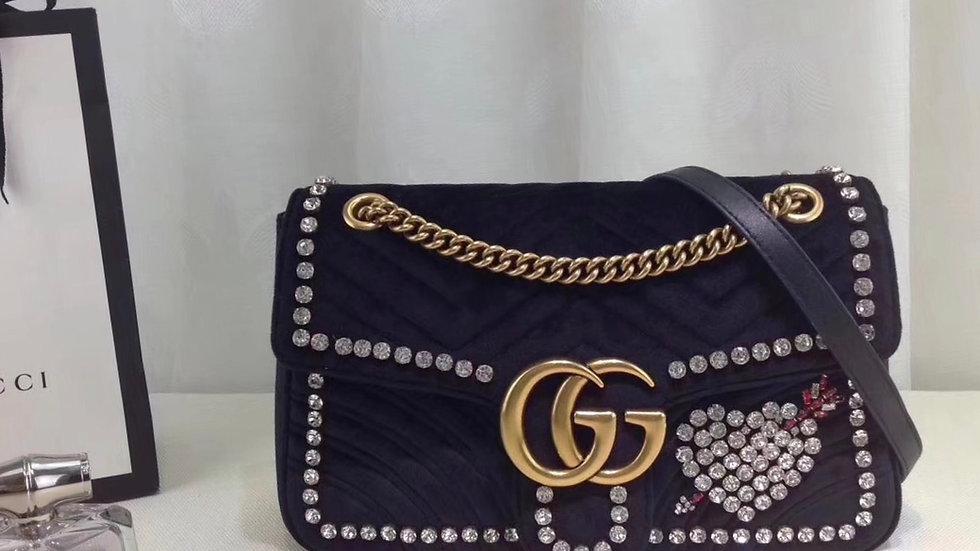 Gucci Marmont Velvet Bling Handbag