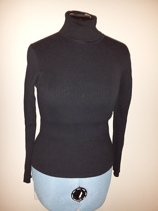 Black Long Sleeve Turtleneck Size L