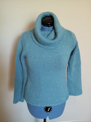 Blue and Silver Sparkle Sweater Size L