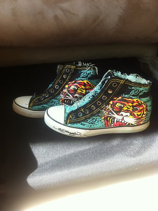 Ed Hardy Tennis Shoes Size 6.5