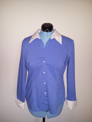 Blue and White Collared Shirt Size XL