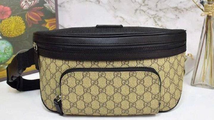 Gucci Monogram Canvas Leather Belt Bag