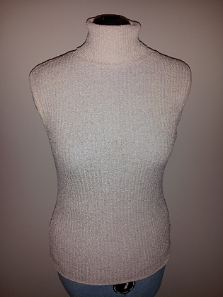 Cream Sleeveless Top Size XL