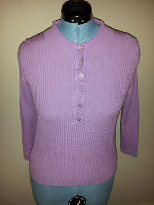 Purple Ribbed Top Size XL