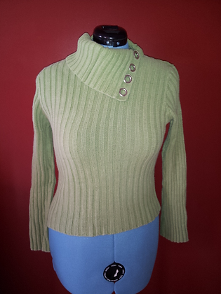 Green Sweater with Silver Accent Size L