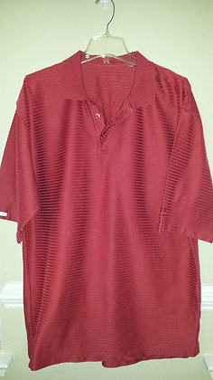 Crimson striped golf shirt Size 2X