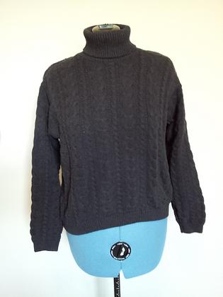 Black Turtleneck Sweater Size L
