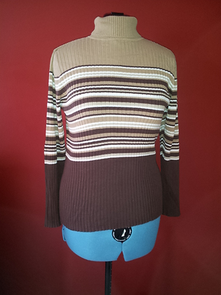 Brown Striped Sweater Size 14/16