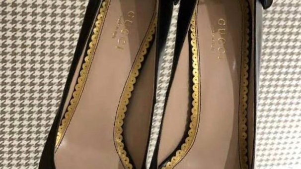 Gucci Butterfly Bow Pump w/ Straps