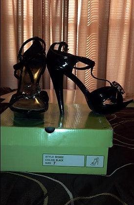 Black Strappy Sandal Size 7