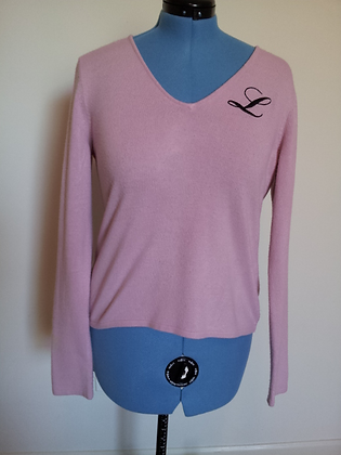 Pink Monogram Sweater Size XL