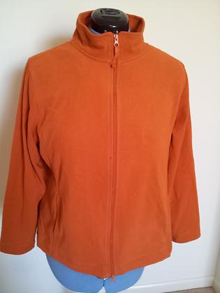 Orange Fleece Jacket Size 14/16