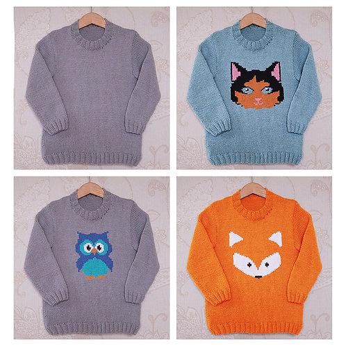 Instarsia - Base Pattern - DK Sweater - 2 to 13 years
