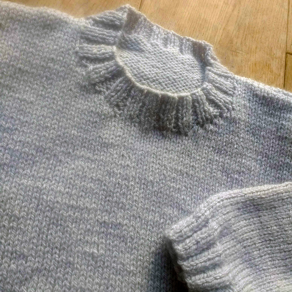 plain instarsia sweater
