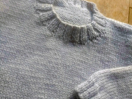 How to knit using main shade only