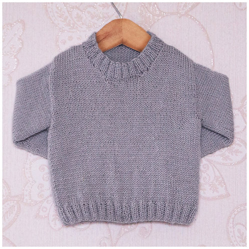 Instarsia - Base Pattern - 4ply Sweater - 0 - 5 years