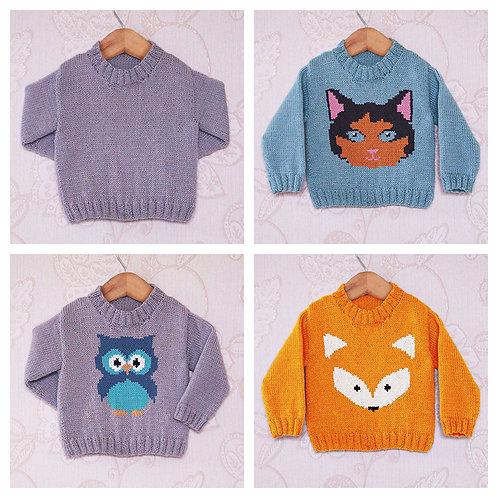 Instarsia - Base Pattern - 4ply Sweater - 0 - 5 years