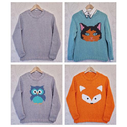Instarsia - Base Pattern - Chunky Sweater - Adults