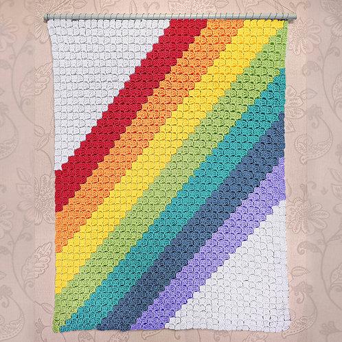 Diagonal Rainbow Stripes - Chart Only