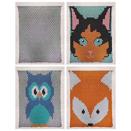 Instarsia - Base Pattern - C2C Crochet Blanket