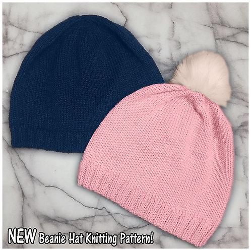 Instarsia - Base Pattern -DK Adult Beanie Hat