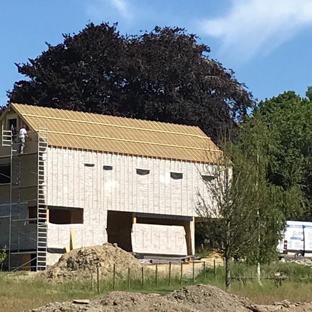 Construction d'une habitation à ossature bois à Cens