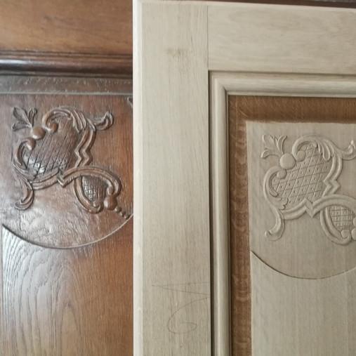 Copie d'une porte de style Louis XV
