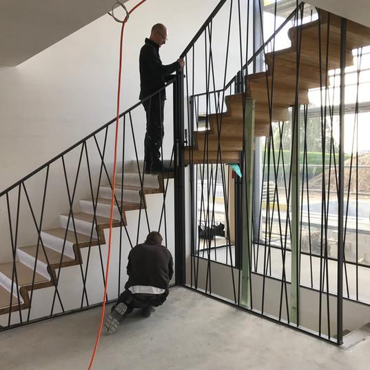 Escalier à portée libre en collaboration avec Novum