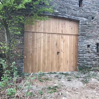 Porte de grange en chêne