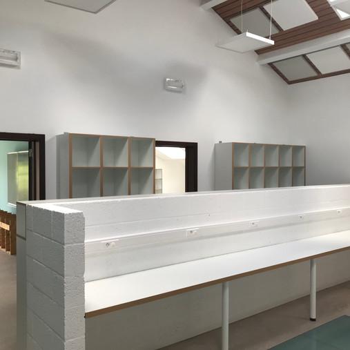 Aménagements à l'école de Longchamps - menuiseries intérieures